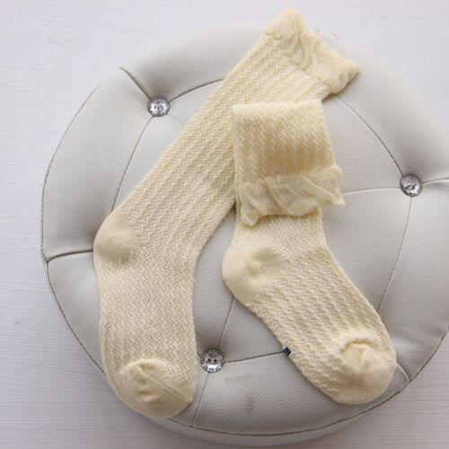 Kids Baby Girls Lovely Soft Cotton Socks Knee High Tight Hosiery Warm Stockings