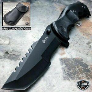 TACTICAL-Spring-Assisted-Open-Pocket-Knife-CLEAVER-RAZOR-FOLDING-Blade-Black-NEW