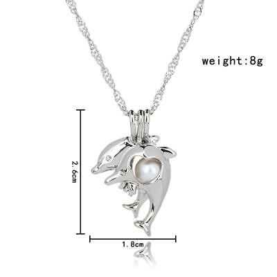 Animal Pearl Cage Locket Pendants Charms For DIY Akoya Oyster Pearl Necklaces