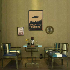 Vintage-Classic-X-FILES-034-I-Want-To-Believe-034-Poster-Wall-Stickers-Home-Decor-TR