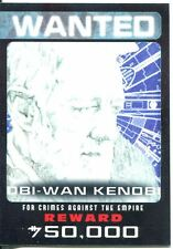 Star Wars Chrome Perspectives Wanted Posters Chase Card 3 Han Solo