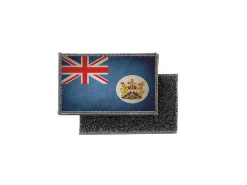 Patch ecusson imprime badge vintage drapeau hong kong ancien