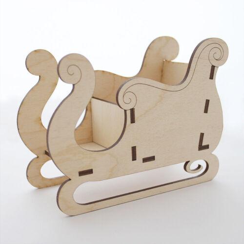 Décoration de Noël le traîneau du Père Noël-en Bois décoration de table Craft Sweet Holder