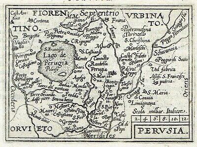 Cartina Stradale Umbria Da Stampare.Perugia 1595 Ortelius Mappa Originale Stampa Antica Umbria Carta Geografica Ebay