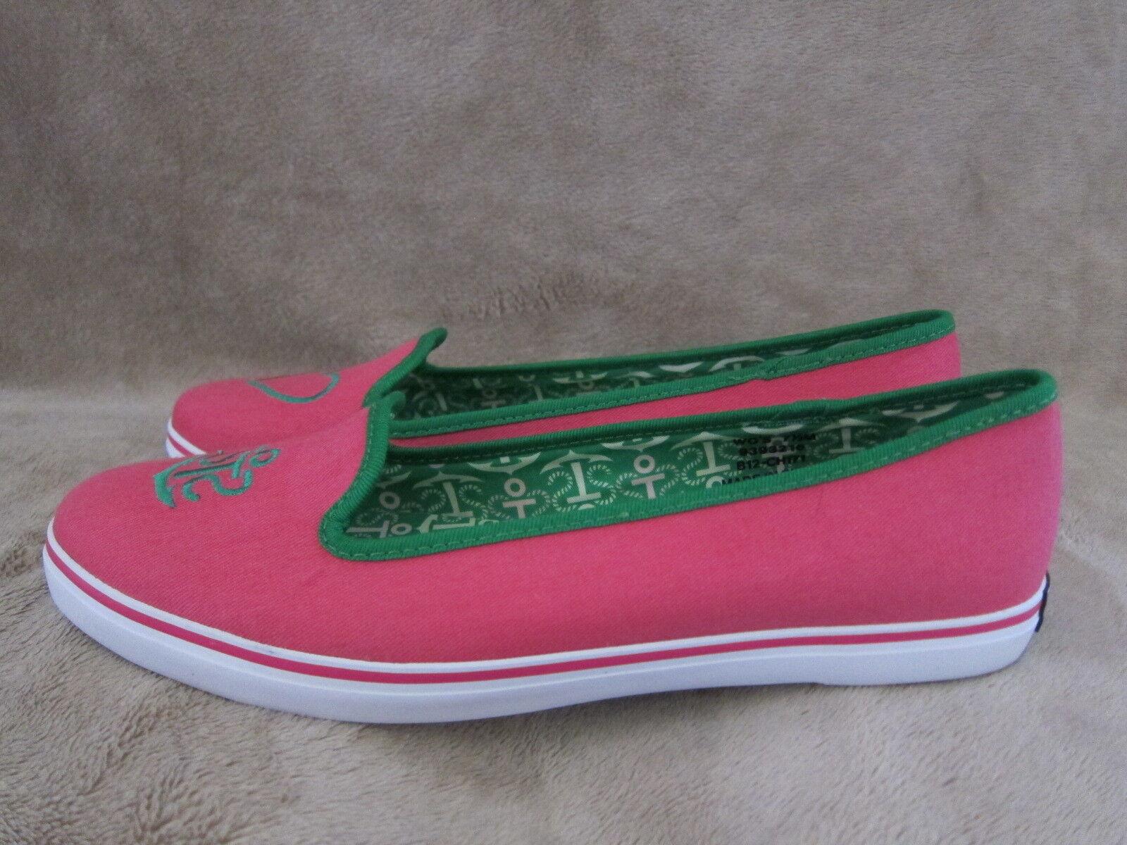 outlet in vendita SPERRY SPERRY SPERRY Top Sider Westport rosa & verde Slip On Flats scarpe donna US 7.5 NWOB  miglior reputazione