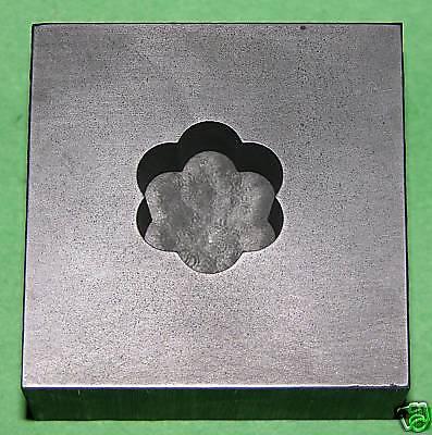 Optic Mold Graphite Lampwork Glass Bead 6pt 7//8x1//2deep