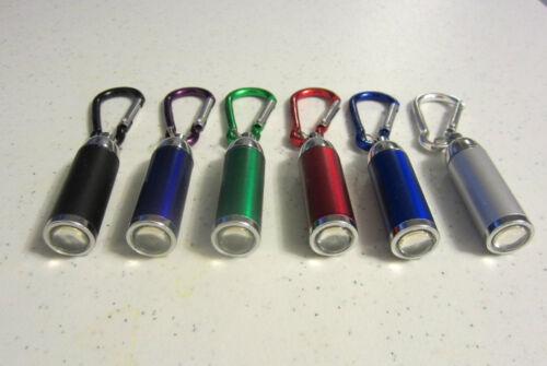 30 nouveau Mousqueton DEL Lampe de poche Keychains avec Zoomable Lumière Porte-clés Anneau