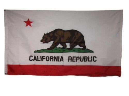 3x5 State of California CA 210D Nylon Flag 3/'x5/' Grommets w// 2 clips