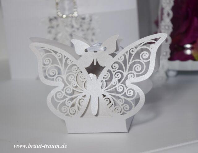 10 Stück Gastgeschenk Schmetterling, Hochzeit, Kommunion, Taufe, Geburtstag,