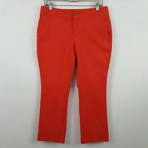 Banana Republic Orange Curvy Straight Leg Women's Casual Pants Sz 6 - 32 x 26.5