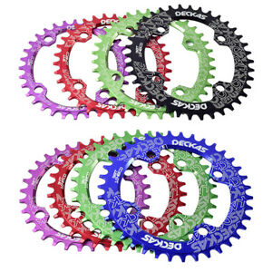 Mountain Bike Chainring 104BCD 32-38T Round Oval Bicycle Chain Ring Multicolor