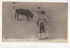 Corrida De Toros Matador Entrando a Matar Spain Vintage Postcard 480a