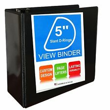 3 ring binder slant d rings clear view factory seconds 5 black