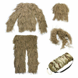 Hunting-Woodland-3D-Camo-Bionic-Sniper-Ghillie-Suit-Tactical-Camouflage-Clothing