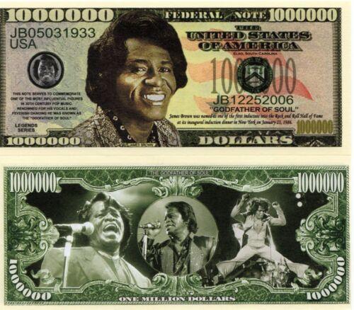James Brown Million Dollar Novelty Money