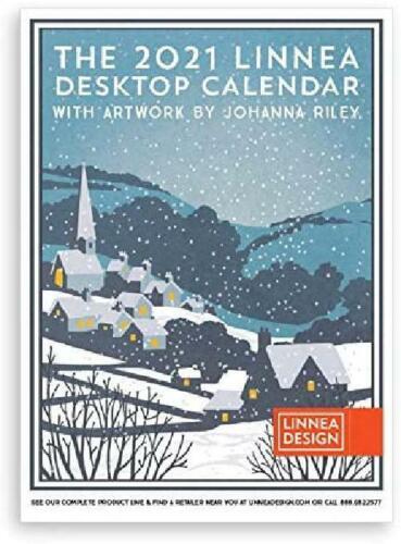 "Linnea Design 2021 Desktop 5X7/"" Calendar Artwork By Johanna Riley"