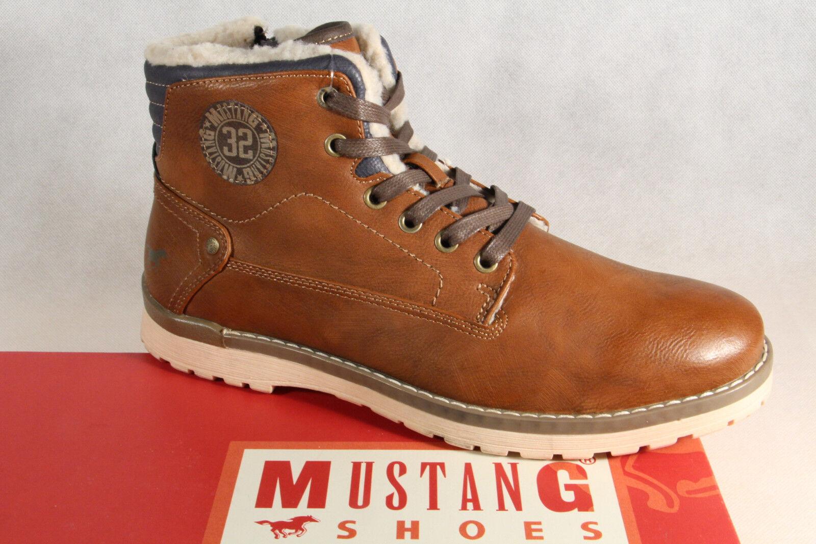 Mustang Stiefel Boots Schnürstiefel Winterstiefel braun  4092 NEU !!
