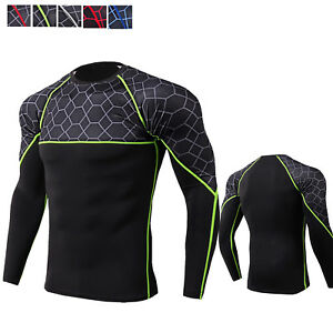 Men-039-s-Compression-Shirt-Quick-dry-Activewear-Tops-Long-Sleeve-Moisture-Wicking