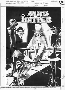 DC Comics Who's Who Issue 5 MAD HATTER Pinup Mark Badger Artwork 1990 Batman