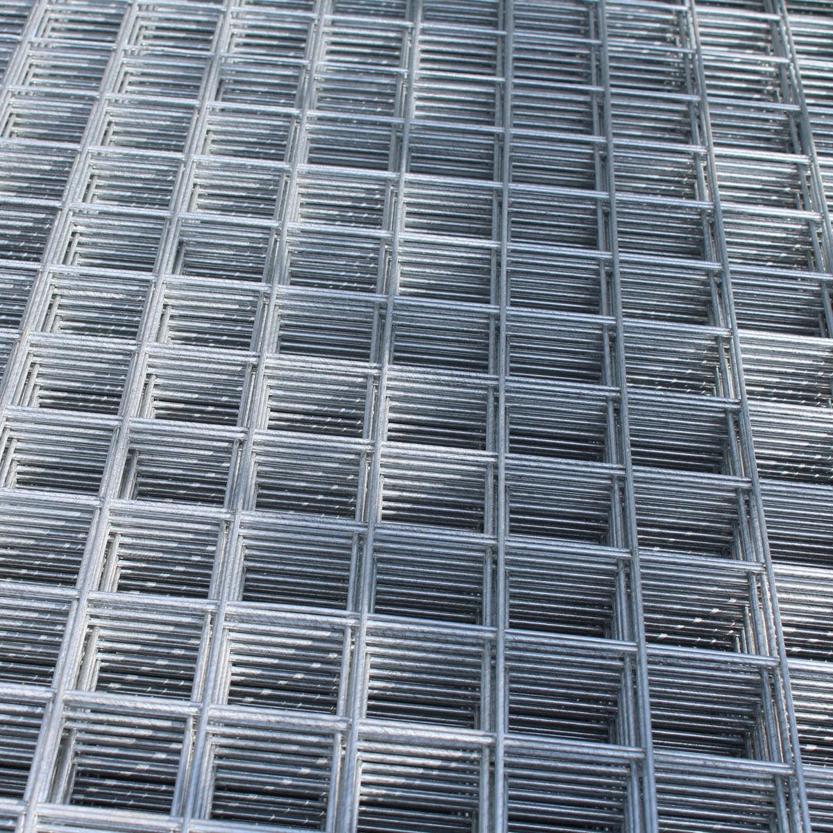 8x Welded Wire Mesh Panels 1.2x2.4m Galvanised 4x8ft Steel Sheet ...
