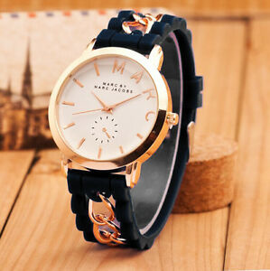 Boys Girls Gold Chain Cartoon Silicone Jelly Watches ...