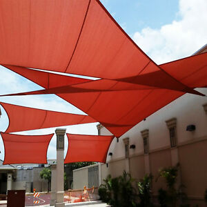 Image Is Loading Waterproof Red Right Triangle Sun Shade Sail Outdoor