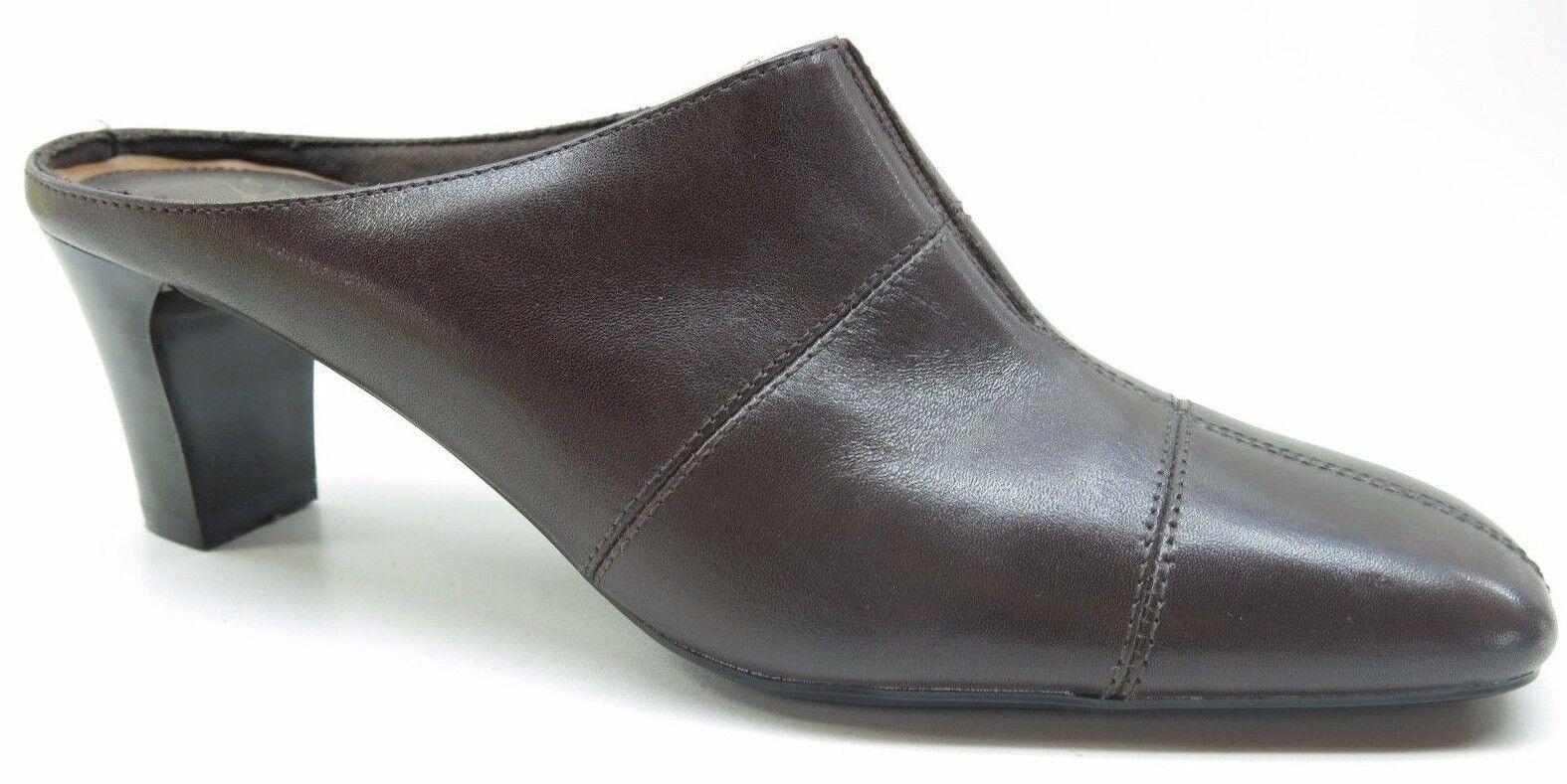 LifeStride Nomad Brown Faux Leather High Heel 7.5 Mule Dress Pump 7.5M 7.5 Heel MSRP $79 93b925