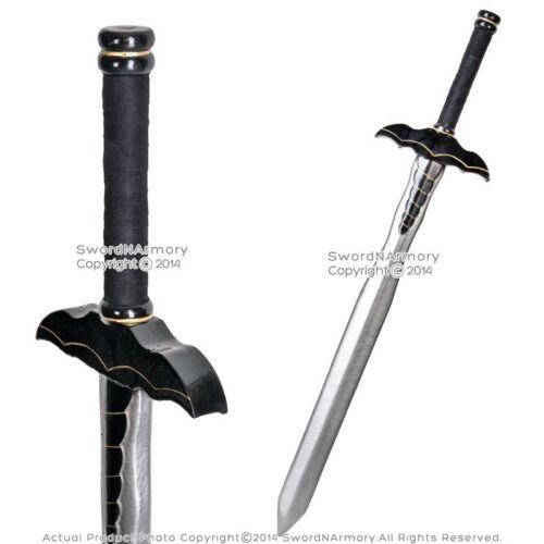 "36/"" Fantasy Dark Knight Sword Black Bat Handle LARP Foam Latex Weapon Cosplay"
