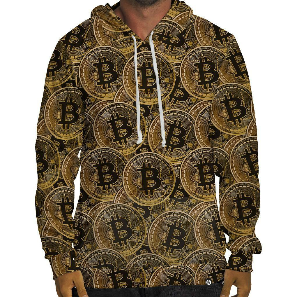 BRAND NEW Beloved Shirts BITCOIN HOODIE SMALL-3XLARGE CUSTOM MADE IN THE USA