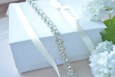GISELLE BRIDAL SASH, wedding dress sash, Vintage Crystal Dress Belt Rhinestone