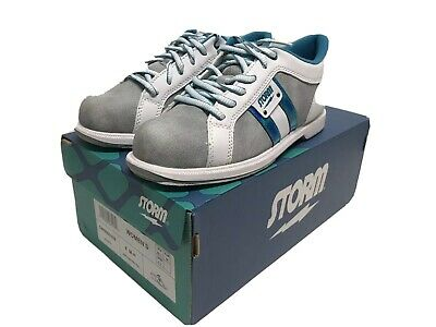 Grey//White//Teal Storm Strato Bowling Shoes