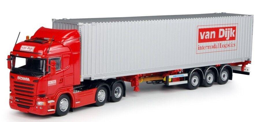 TEK65883 - SCANIA 3 Essieux Avec Porte container 3 Essieux et container 40 Pieds