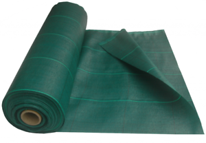 Green 125gsm 2M Wide Heavy Duty Weed Fabric Various Lengths + Pegs Option