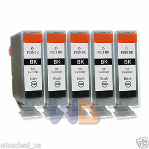 5-Black-PGI-5-Ink-Cartridge-PGI-5BK-PGI5-WITH-NEW-CHIP-for-Canon-MP950-Printer