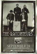 RACONTEURS 2008 CONCERT TOUR POSTER - White Stripes,Jack Lawrence,Patrick Keeler