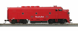 HO-MTH-Christmas-F-3-Non-Powered-A-Unit-for-2-Rail-Track-81-2006-3
