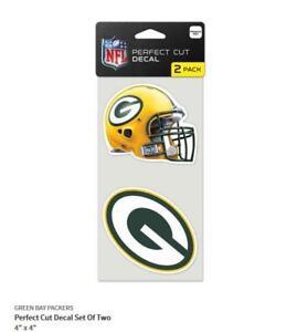 Green-Bay-Packers-2-Aufkleber-Helm-Logo-Decal-Badge-Emblem-NFL-Football