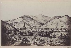 Thann Alto Reno Foto Su di Carta Albume D' Uovo Di Dopo Una Incisione Verso 1870