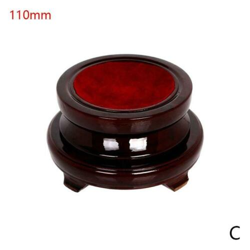 Vintage Wood Display Stand Base Holder For Crystal Ball Sphere Globe Stone Decor