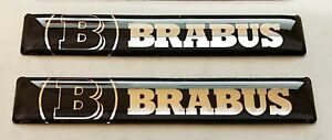 2stk-x-Brabus-Aufkleber-60x10mm-Mercedes-3D-gewoelbt-Groesse-logo