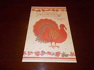 5 VTG HALLMARK THANKSGIVING PRESS OUT DECORATIONS CARDBOARD DIECUTS IN BOOK NOS