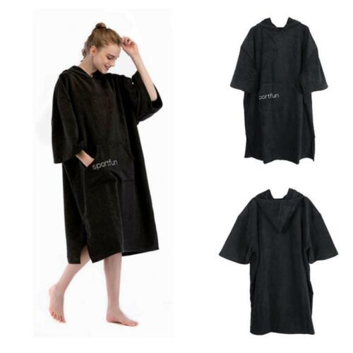 Adult 110cm Changing Robe Poncho Hooded Towel for Surf Triathlon Beach Swim