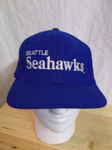 True Vintage NFL SEATTLE SEAHAWKS Script SNAP BACK