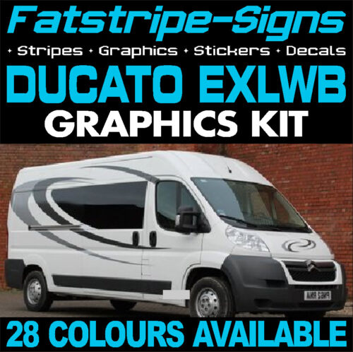 FIAT DUCATO L4 EXLWB GRAPHICS STICKERS STRIPES DECALS DAY VAN ...