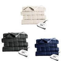 Sunbeam Electric Heated Fleece Blanket Twin Full Queen King Size Assorted Color