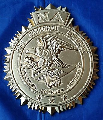 """FBI NA National Academy 3D High Relief Wall / Podium Seal Sign 9"""" Tall X 8"""" Wide"""