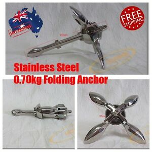 Kayak Anchor Jetski Inflatable Boat 0.7kg Stainless Steel Folding Accessory