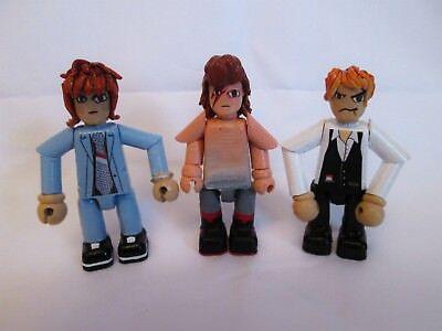 David Bowie 3 Pollici Minifigura Set 3 X Handmade Ooak Figure Di Giunti Sferici-mostra Il Titolo Originale