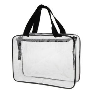 Details about Clear PVC Cosmetic Bag Organizer Toiletry Makeup Bag Travel Pouch Zip Large