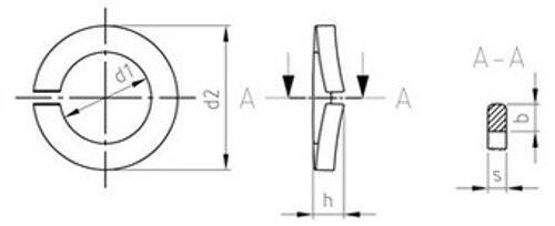 DIN 128 Federringe Form A gewölbt Edelstahl A4 diverse Abmessungen Abmessungen Abmessungen   Authentisch  385c39
